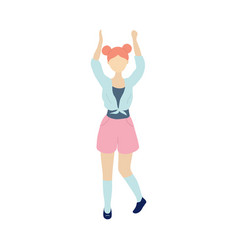 young dancing tiny stylish woman vector image