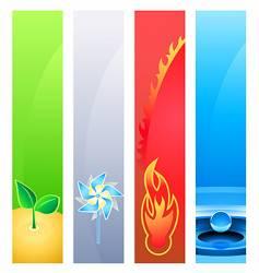 4 nature element banner backgrounds vector image