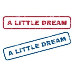 A little dream rubber stamps vector