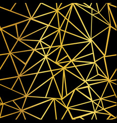 black and gold foil geometric mosaic vector image