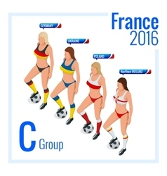 European football championship in France Group C vector image vector image