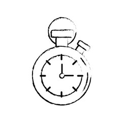 figure chronometer to know and meter the time vector image