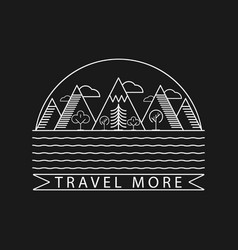 nature and mountain landscape logo with text vector image
