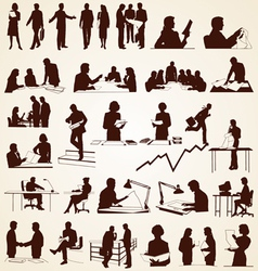 Business People Silhouettes vector image