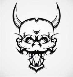 Demon Face Tattoo Design vector image vector image