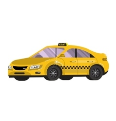 Flat styled Taxi vector image