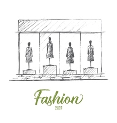 Mannequins in fashion shop vector