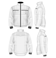 Mens reflective safety jacket vector image