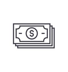 banknotesdollars line icon sign vector image vector image