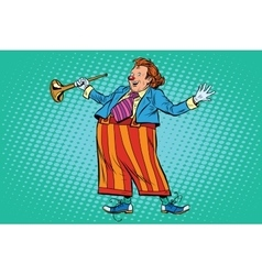 Circus clown in bright clothes vector image
