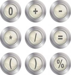 mathematics buttons vector image