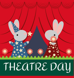 rabbits on the stage vector image vector image