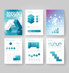 Infographics brochure blue vector