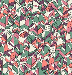 Seamless pattern with colored autumn leaves vector image vector image