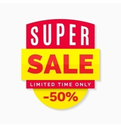 Super sale banner limited time only vector image vector image