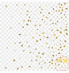 3d gold stars confetti celebration falling golden vector image