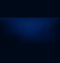 abstract blue square pixel particle big data vector image