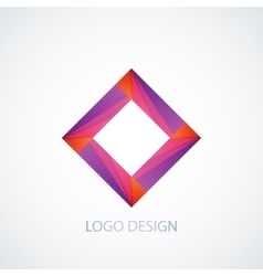 Abstract logo square vector