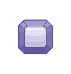 amethyst gemstone isolated jewelry purple stone vector image