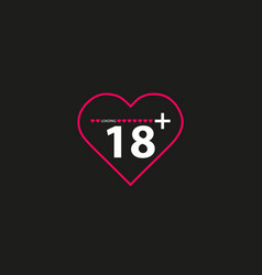 an isolated line art heart vector image