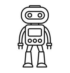 Artificial robot icon outline style vector