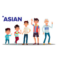 asiatic generation male people person vector image