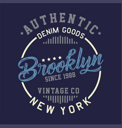 authentic brooklyn vintage vector image