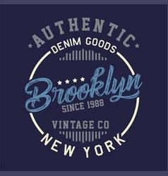Authentic brooklyn vintage vector