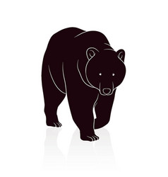 Bear silhouette isolated on white background vector