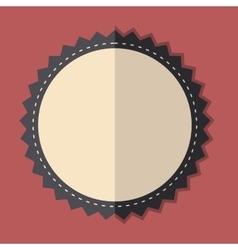 Beige vintage badge vector image