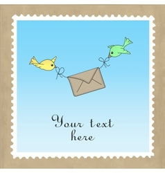 Birds delivering mail vector