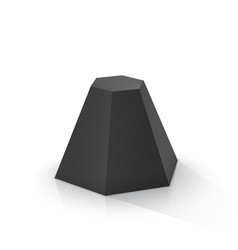 Black frustum hexagonal pyramid vector