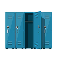 Blue metal cabinets vector