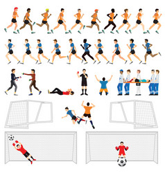 cartoon character set of soccer man players in vector image