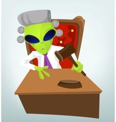 Cartoon Judge Alien vector image