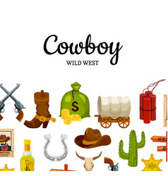 Cartoon wild west background with place for vector