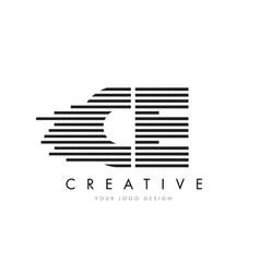 Ce c e zebra letter logo design with black and vector