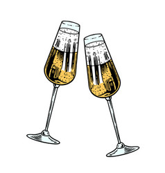 cheers toast clink glasses champagne vector image