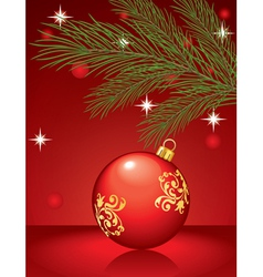 Christmas toy pine vector image
