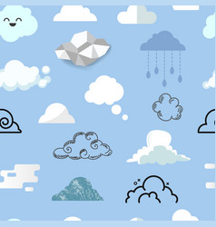 cloud icon different style icons cloudy vector image