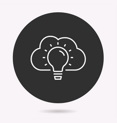 cloud technology - icon vector image