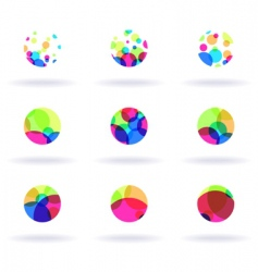 Colorful icons vector