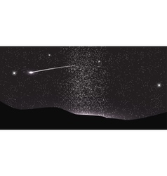 Comet Fly Around the Planet in Space vector image