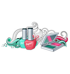 cosmetics for women vector image