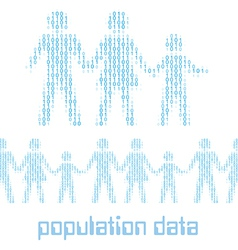 Digital people family group Data vector