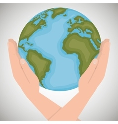 Environmental icon save the world vector