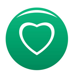 Fearless heart icon green vector