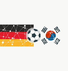 germany vs south korea vector image