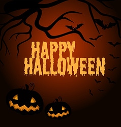 Happy halloween poster with jack-o-lantern vector