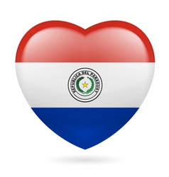 Heart icon of paraguay vector